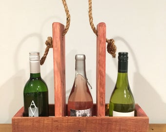 Wine and glass carrier