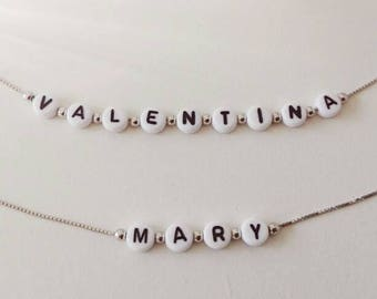 Silver bracelet with name to customize