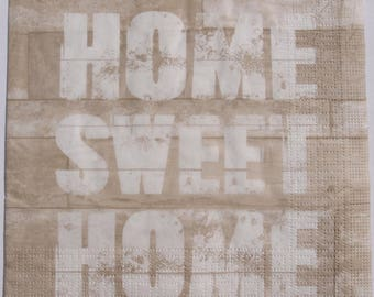 Decoupage Paper Napkins x4 Home Sweet Home for Decoupage Craft and Scrapbooking 002