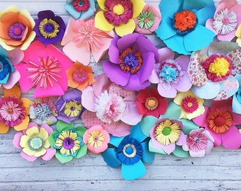 30 pc Custom Color flower wall