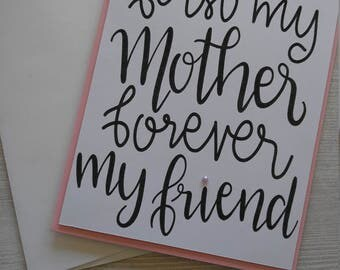 Handmade card for mom with envelope