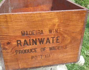 Vintage wooden wine crate