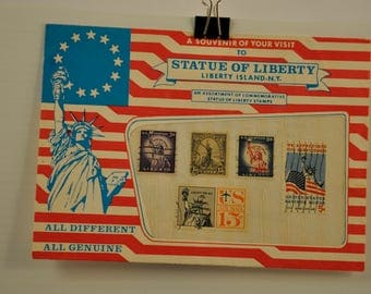 Souvenir Statue of Liberty Postage Stamps