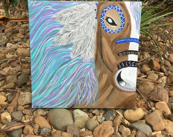 Acrylic Painting (Indian Horse)