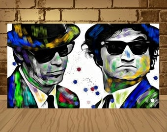 The blues brothers poster,The blues brothers print,blues brothers art,john belushi,Jake & Elwood,john belushi blues brothers,blues poster