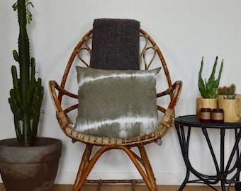 Cushion Shibori Tie Dye khaki