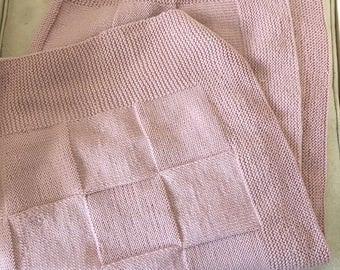 Pink Cashmere Baby Blanket