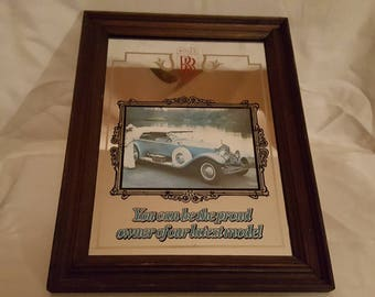 Vintage and Rare Rolls Royce Advertising Mirror.
