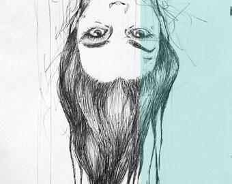 Illustration female portrait