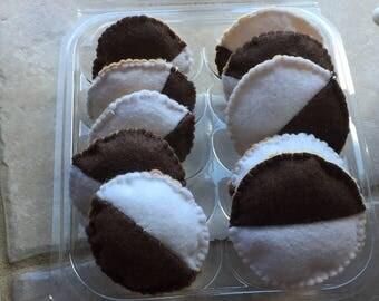 Felt Black and White Cookie