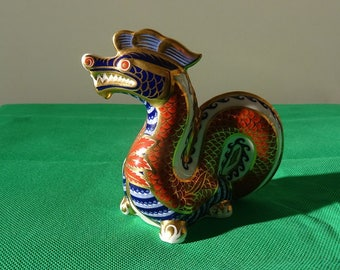 Royal Crown Derby Paperweight Dragon
