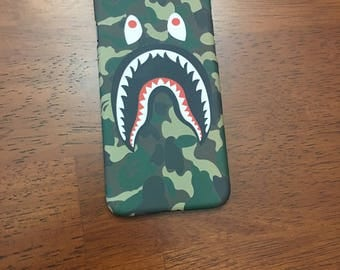 END of APRIL SALE ***** Apple iPhone Bape A Bathing Ape Shark Logo Phone Cases 7/7 Plus
