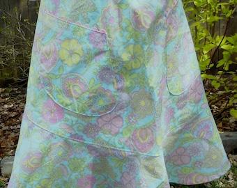Half Apron - Pastel Floral Print