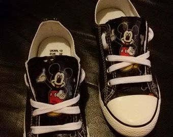Customised mickey mouse shoes