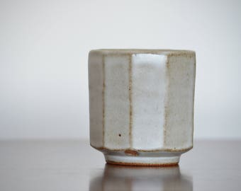 Frost White Facet Cup