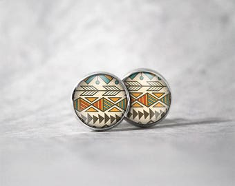 Earrings 12 mm cabochon / patterns