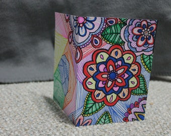 homemade, card, giftsunder10, flower, pattern, wedding, birthday, get well soon, folded card