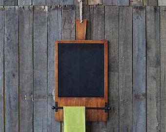 Wood Bread Board with Chalkboard