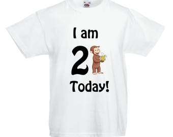 Curious George Birthday T shirt -Any Age!