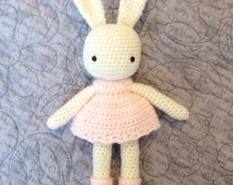 Crochet bunny, Bunny toy, Easter bunny, Nursery decor, Baby Shower gift, Birthday gift, stuffed animal, handmade gift