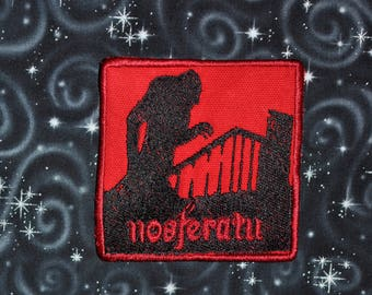 Nosferatu Embroidered Patch - Shadow of Count Orlok  - Classic Silent Cinema Vampire Movie