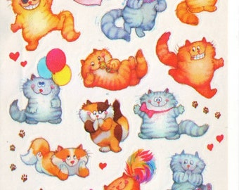 Vintage Chubby Cat AGC Stickers Sheet