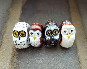 Worry Owl Model - fidget toy, anxiety relief, miniature