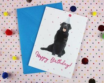 Dog Birthday card / Personalised card / Labrador Birthday card / Birthday card / Dog card / Bday greeting card / Cute Birthday card.