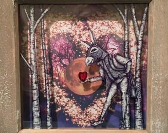Midsummer Nights Dream - Bottom's Heart - 3D Framed Art - Romantic Gift