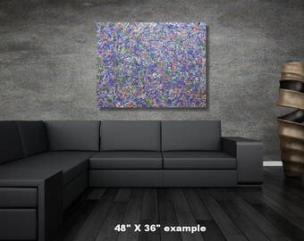 """30"""" x 72"""" X-large abstract painting"""