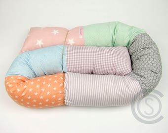 Bed snake 160 cm puck worm storage cushion