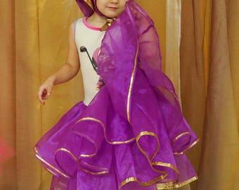 Masha costume. Masha and the Bear. Halloween costume. Birthday dress. Tu-tu dress
