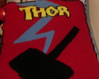 Thor crochet blanket