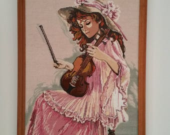 Tapestry Girl playing Violin