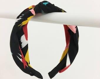 Tie knot fabric headband