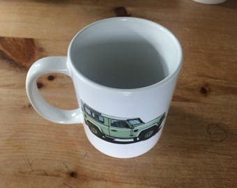 Landrover Defender 90 Heritage Illustration Mug