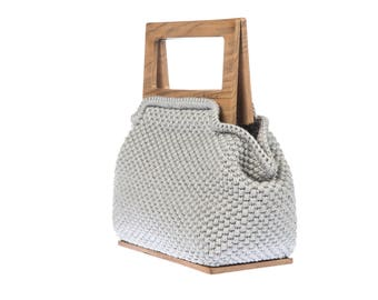 Superb handmade / Bolero Fogy Gray handbag