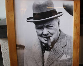 Vintage Bilderrahmen Holz Winston Churchill