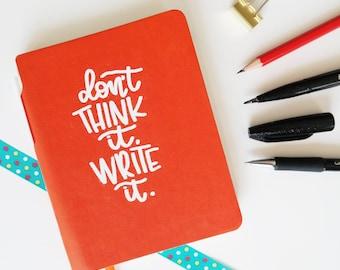 Handmade Notebook Write It (incl. pen)