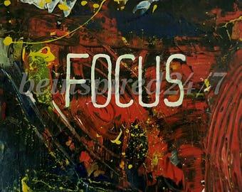 Focus motivational print