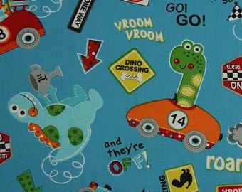 Go Go Dino 'multi' from Marcus Fabrics Fat Quarter