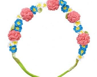 Hand Crocheted Flower Headband