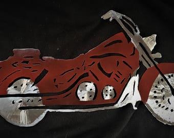 Red Steel Motorcycle