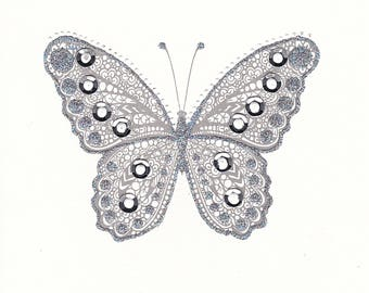 Shimmering Silver Butterfly