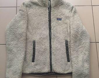 Women Patagonia Los Gatos retro fleece tan size M