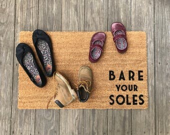 Bare Your Soles Door Mat (doormat)   Lets Your Guests Know To Take Off