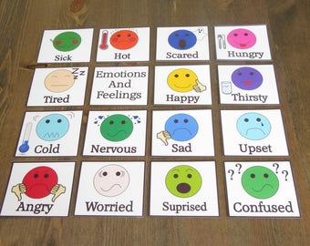 Emotions and feelings flash cards - Non Verbal Autism SEN