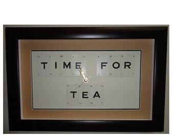 Time For Tea word art clock
