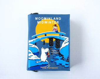 Moomin Story Leather Book Bag Tove Jansson Book Purse