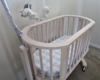 Baby Boy Soft FITTED FLANNELETTE SHEET Infant Crib Bassinet Cradle Nursery Pram
